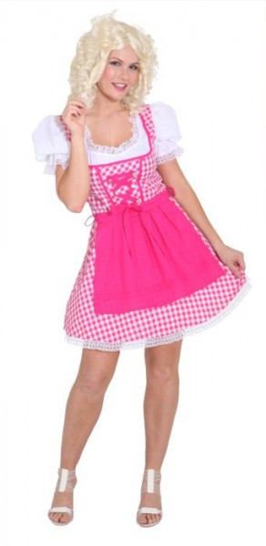 dirndl pink wei oktoberfest trachten kleid fasching mode dirndls24 trachten trachtenhosen. Black Bedroom Furniture Sets. Home Design Ideas